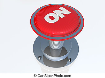 On button 3D render