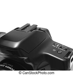 On button over SLR camera.