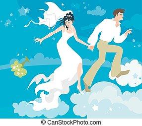 on cloud nine - Happy couple