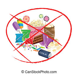 On Eat Sweet Drinks and Sweet Snack - No Sweet Food, An...