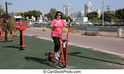 On elliptical cross trainer