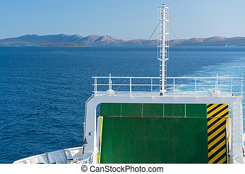 return from Dugi island by ferry boat, Croatia.