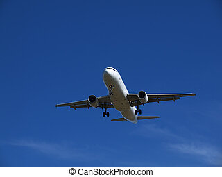 On Final Approach - Airliner coming into Vancouver airport
