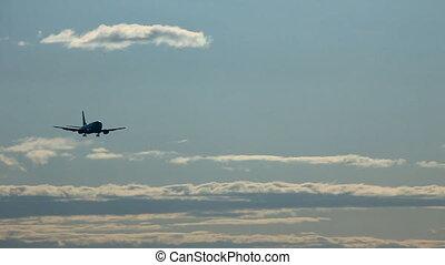 On final approach.