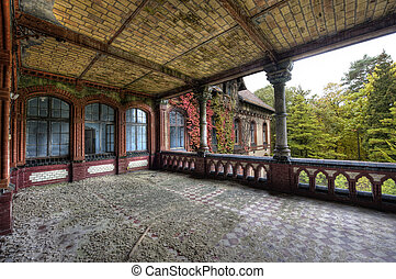 on first level - The old hospital complex in Beelitz near...