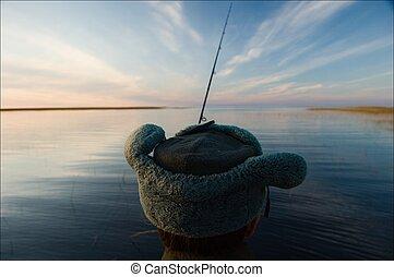 On fishing.