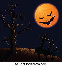 On Halloween night.