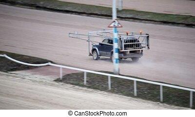 on hippodrome special car of autostart