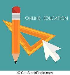 on line education with mouse cursor