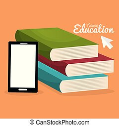 on line education with smartphone