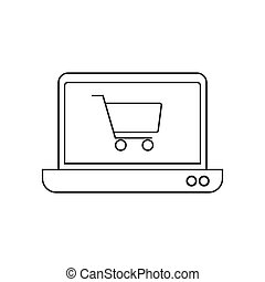 Draht, shoppen, technology., &, formung, symbol, enthält, abbildung ...