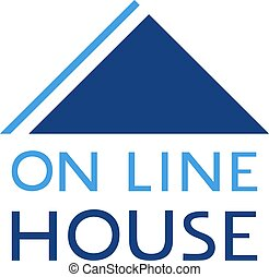 on line house flat icon