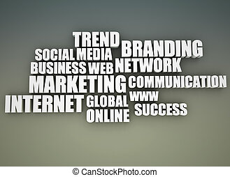 On line marketing related words