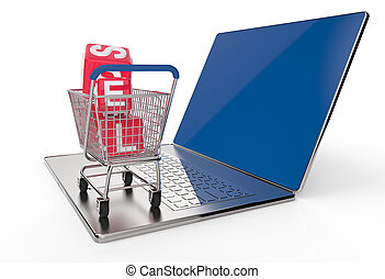 On line shopping concept