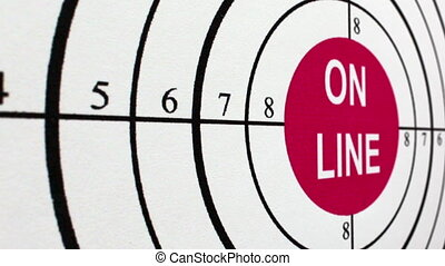 On line target concept dolly shot
