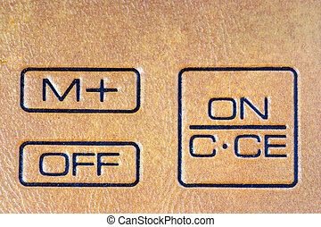 on off button - calculator