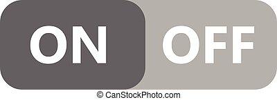 On-Off button icon vector design