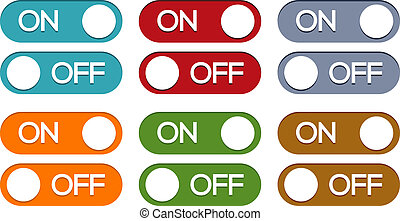 On - off button set