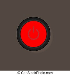 On Off Push style power buttons, The Off buttons are enclosed in red icon in white and brown background,