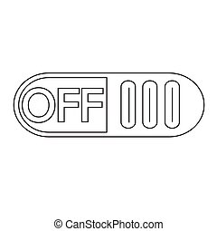 On Off switch button icon