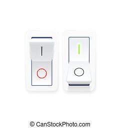On off switch button ui isolated