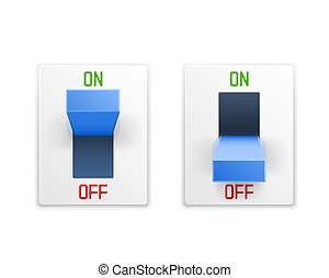 On off switch button ui isolated white background.