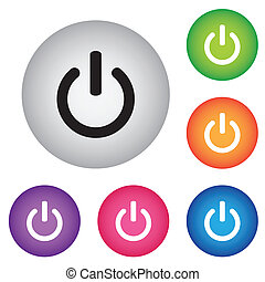 On Off switch icon set for web, internet, mobile apps....