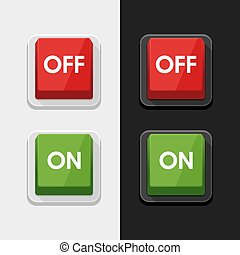 On - Off Switch Power Button Symbol Icon Vector Design Illustration