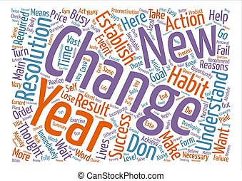 On Resolutions text background word cloud concept