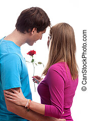 On romantic date