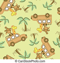 On safari. - On safari seamless pattern