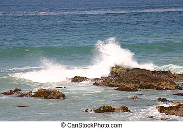 Wave reaching the shoreline