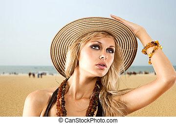 on summer beach