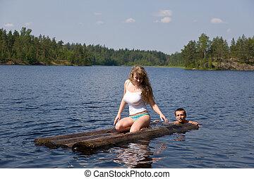 on summer lake