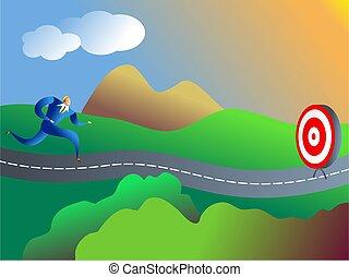 on target - business concept illustration