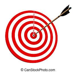 On Target - An arrow hitting the center of target