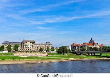 On the banks of river Elbe