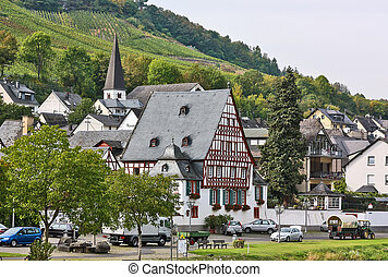 On the banks of the Mosel river, Germany