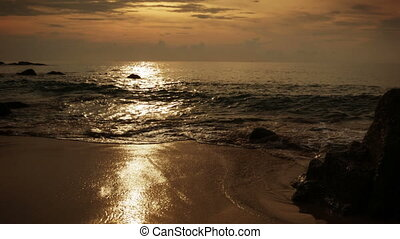 On the beach in the evening. Thailand. Phuket.