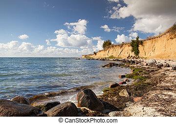 On the dramatic coast of the Baltic Sea, Ruegen Island