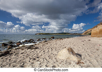 On the dramatic coast of the Baltic Sea, Ruegen Island