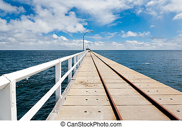 Jetty at Busselton - On the Famous Jetty at Busselton South ...