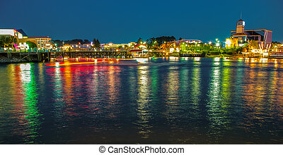 on the grand strand at myrtle beach - evening scenes on the...