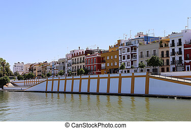 On the Guadalquivir River, Seville, Andalusia, southern ...