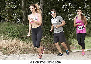 On the marathon in the forest