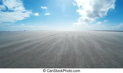 On The North Sea Beach of St. Peter-Ording