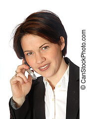 On the phone - woman talking on cell phone