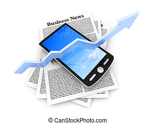 On the rise - Smartphone in the Business News