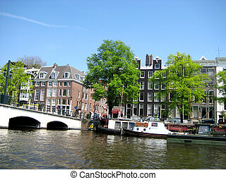 On the river of Amsterdam