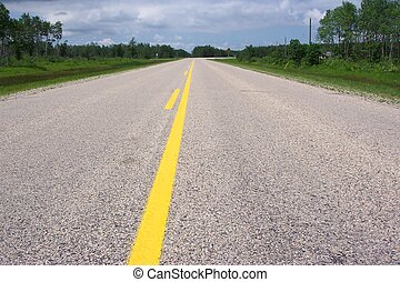 On the road again! - Lonely stretch of highway....
